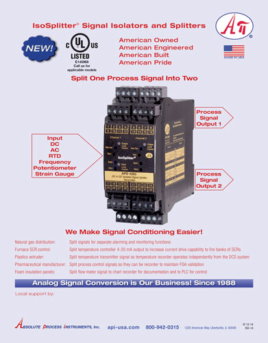 API - Splitter Signal Conditioner Isolator