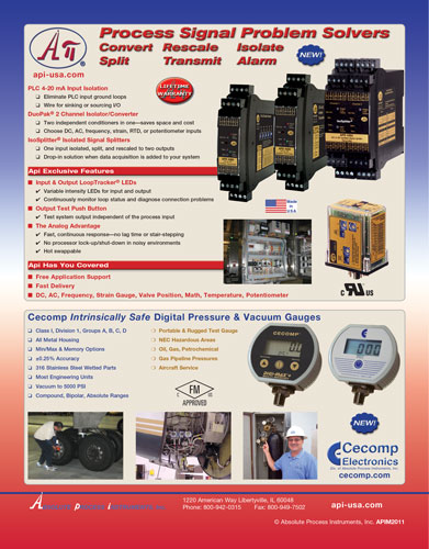 API - Absolute Process Instruments - Signal