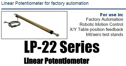 ASG Linear Potentiometer Position Sensor