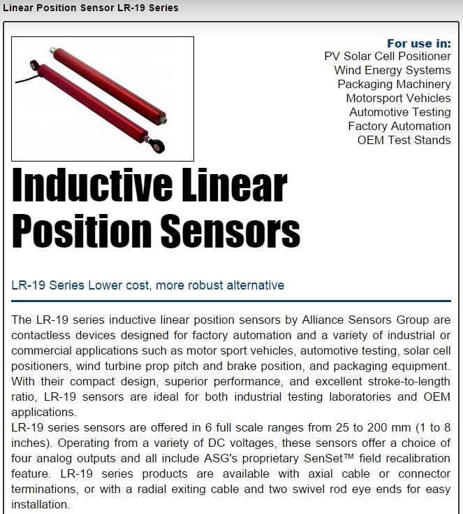 ASG Low Cost Position Sensor