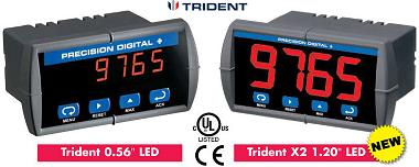 Precision Digital Trident X2 with Large Digits
